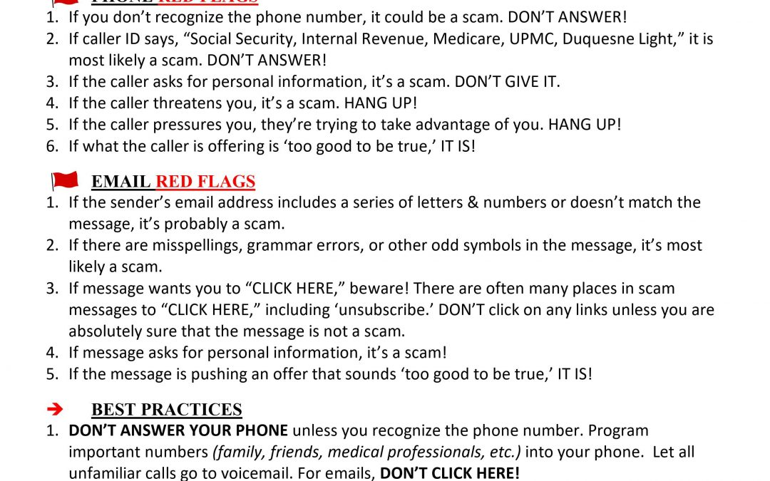 ❗ Red Flags: How to recognize a SCAM